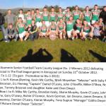 2012 Senior Team.