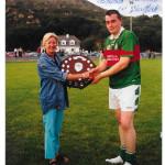 Bernie Reen, County Gaa Board, Presenting The County Junior Shield 2003 To Kilcummin Capt Diarmuid o Donoghue.