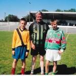 Kieran Murphy and Kevin McCarthy with Referee John Lenihan U12 Parish Final 2006