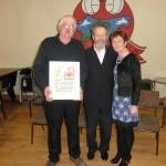 Tom Sullivan,Merit Award Receipient, Sean Kelly, and Eileen o Sullivan, at The Kilcummin Gaa Awards Night in The Klub, 7-2-2015