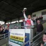 Kilcummin Senior Team Capt Brendan Kealy Lifting The 2018 County Intermediate Cup. 2018