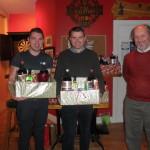 Kilcummin Gaa Golf Society Christmas Hamper Winners, Noel Duggan, and Flor Sullivan,with Denis Casey, Capt. at Presentation in Club 15-11-2014.