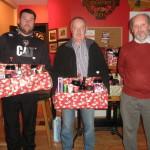 Kilcummin Gaa Golf Society, Christmas Hamper Winners,Philip o Connor, Mike Devane, and Denis Casey, capt,