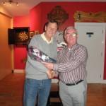 Kilcummin Gaa 2015 Golf Society, President Presenting 4th Place Prize To Ian Millis.