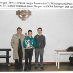 1989 Under 12 Parish League Final Presentation.