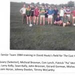 Senior Team Training In Healys Field 1984