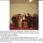 U 12 PARISH LEAGUE TROPHY PRESENTATION. 1983.