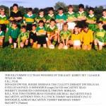 East Kerry U12 Div 1 League Winners 1989.