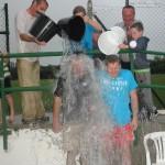 Mike Teahan,& Kieran Fleming doing The Ice Bucket Challenge on sunday 31th Aug. 2014.